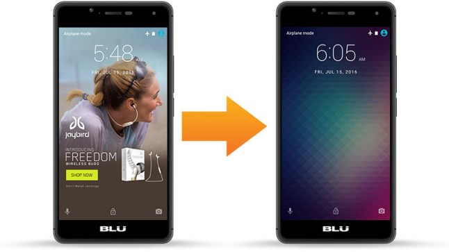 How to disable lock screen ads on Amazon's subsidized BLU R1