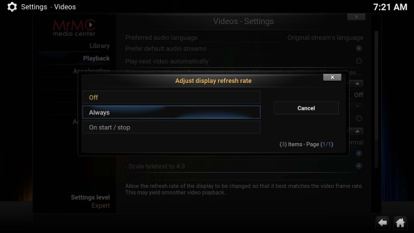 mrmc-settings-video-playback-refresh-rate
