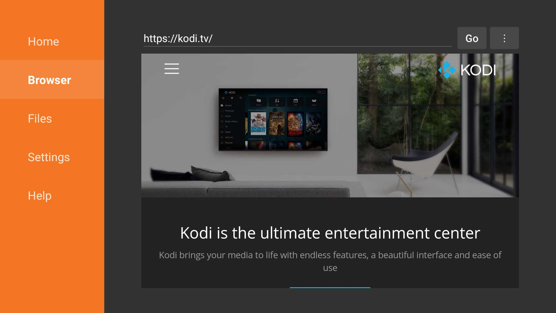 New Kodi website causing issues with ES File Explorer