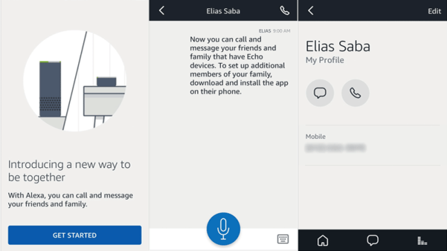 How calls and messages work with Amazon Echos and the Alexa