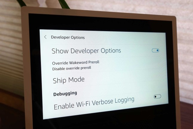 Amazon's Echo Show runs Android and has Developer Options