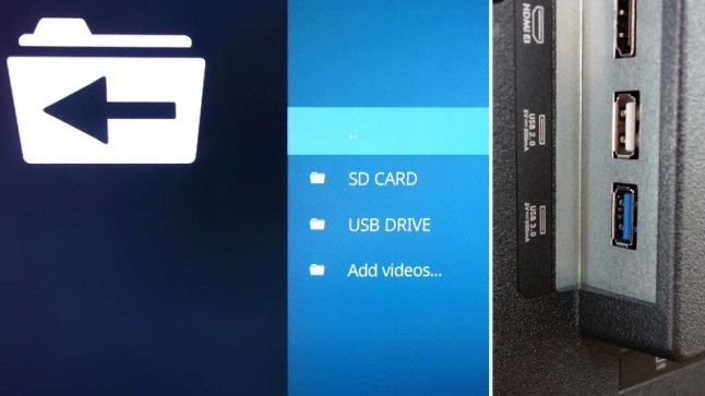 Fire TV Edition televisions can access SD Card and USB Drive