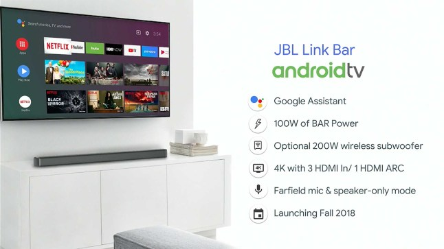 JBL to release a soundbar that is also an Android TV box and