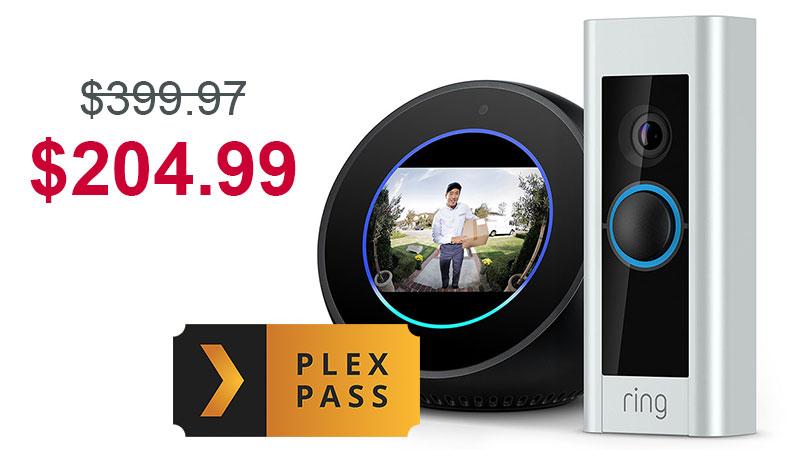 ring doorbell for sale duraspark wiring diagram ford get an echo spot + pro 6 month plex pass bundle $204.99 at best buy — $70 ...