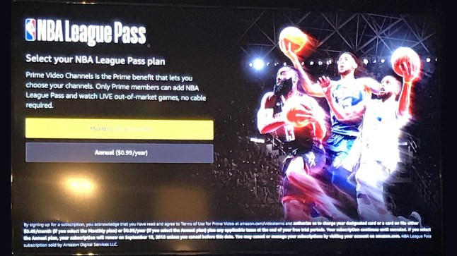 NBA League Pass with live games likely coming to Amazon