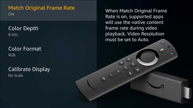 Amazon Fire TV Stick 4K will support Video Frame Rate Matching