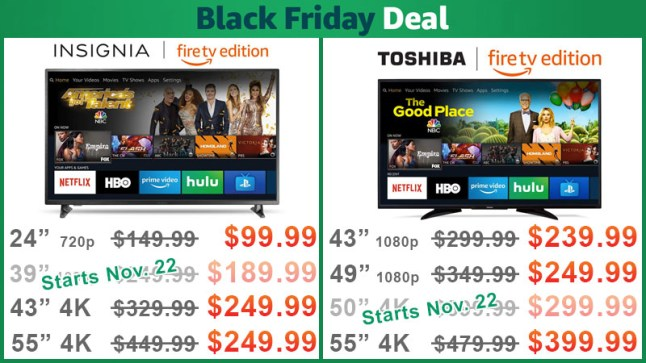 02b4fa4b0 Insignia and Toshiba Fire TV Edition Television Black Friday Deals are Live  — Starting at  99.99  UPDATED