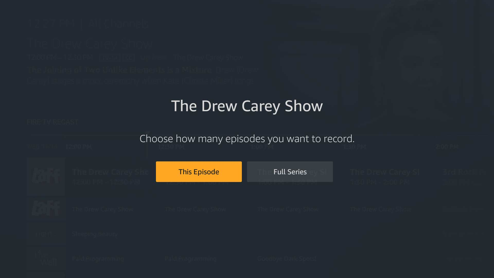 Best options for recording tv shows