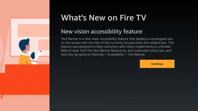 New Vision Accessibility feature adds large Text Banner to Fire TV  interface | AFTVnews
