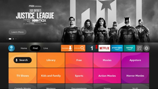 Find tab on new Fire TV Interface |LeeTVStuff.com