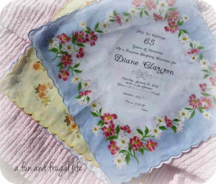 Vintage hankies from A Fun and Frugal Life