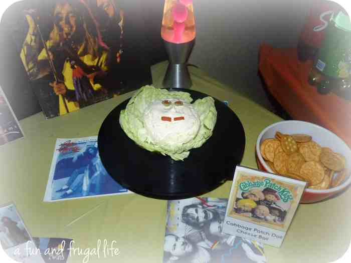 Cabbage Patch Doll cheese ball from A Fun and Frugal Life