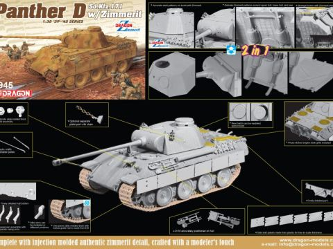 Panther Ausf.D with Zimmerit (2 in 1) - DRAGON 6945