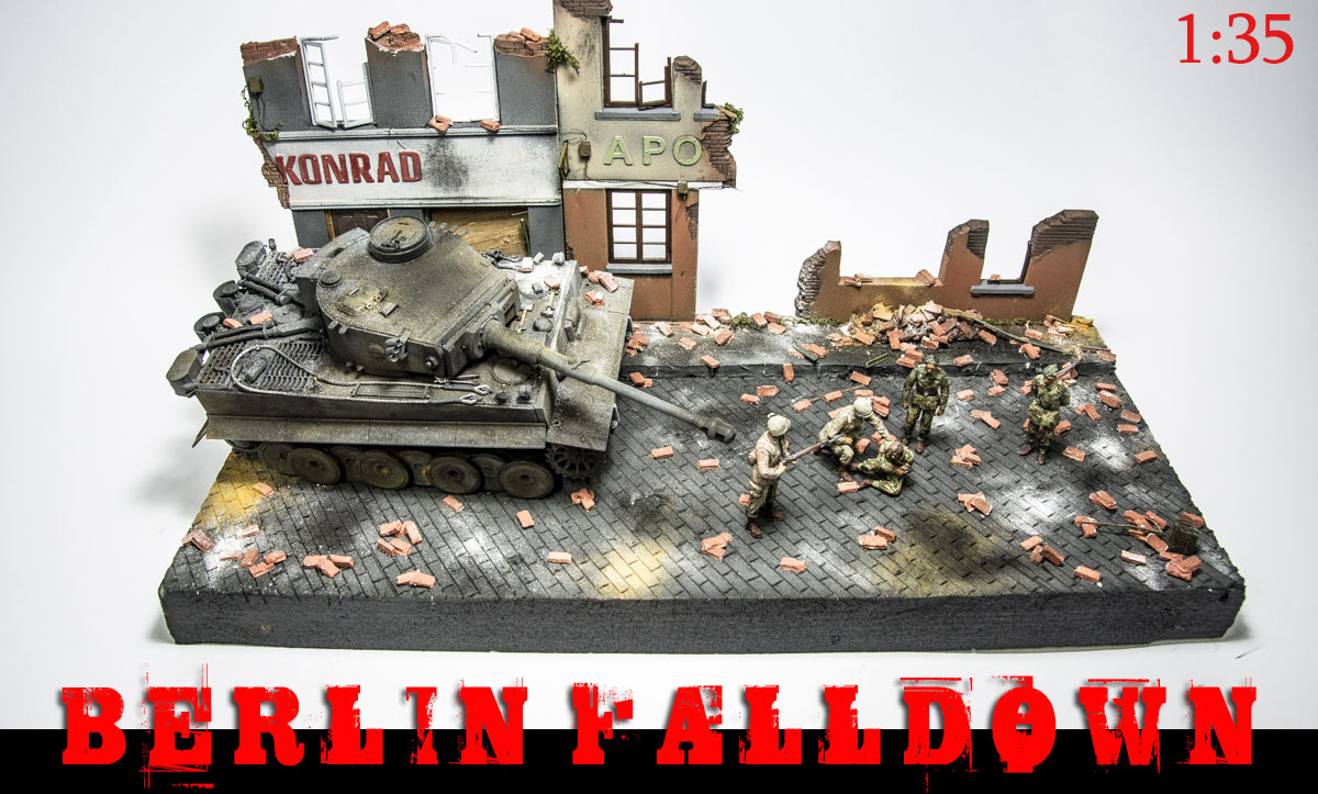 Berlin Falldown Diorama - Tiger