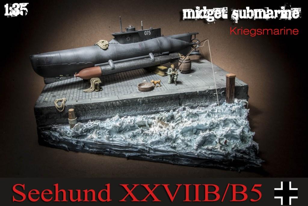 SeeHund XXVIIB/B5 Midget Submarine Diorama