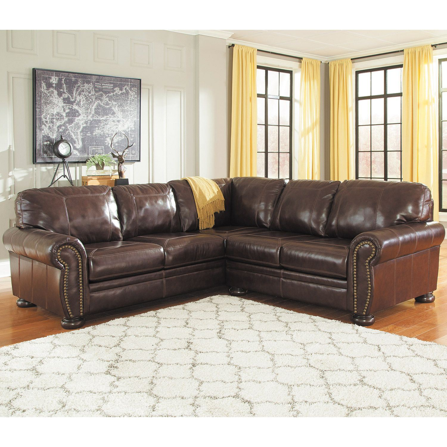 2 pc laf sectional sofa diy seat cushion covers 2pc leather 0h0 504ls ashley