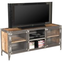 Vintage Industrial Iron And Wood TV Stand SIE-A9141 | AFW ...