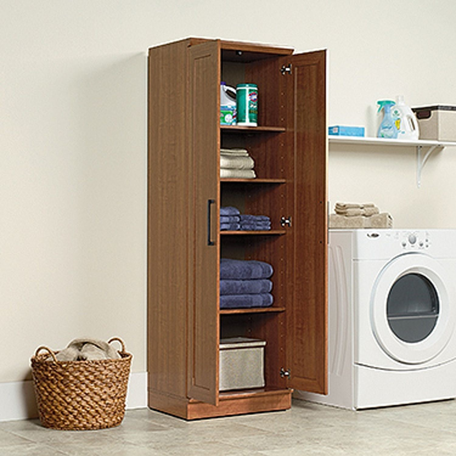 Homeplus Storage Cabinet Sienna Oak  D  411963  Sauder Woodworking  AFW