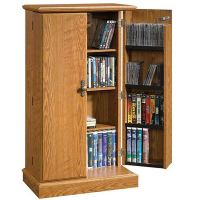 Audio or Video Storage Cabinet in Oak Finish | 401349 ...