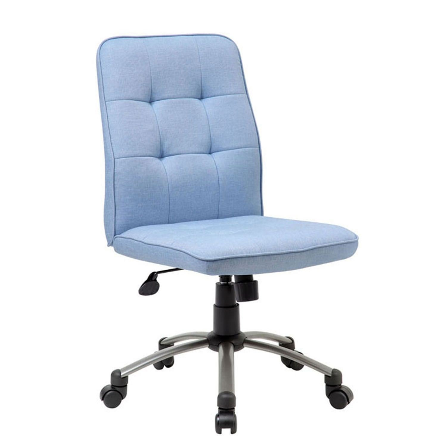light blue desk chair modern lounge with ottoman office d b330pm lb