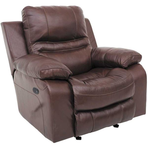 Patton Italian Leather Power Recliner 0H04240P Jackson
