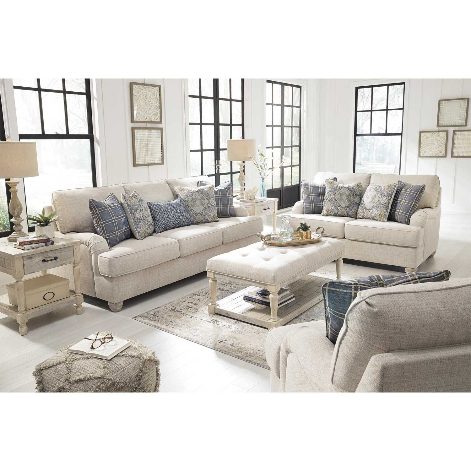ashley furniture ballari linen sofa smith brothers leather traemore loveseat 2740335 afw