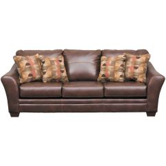 Ashley Bonded Leather Sectional Sofa Feather Down Del Rio 3920038 Furniture Afw