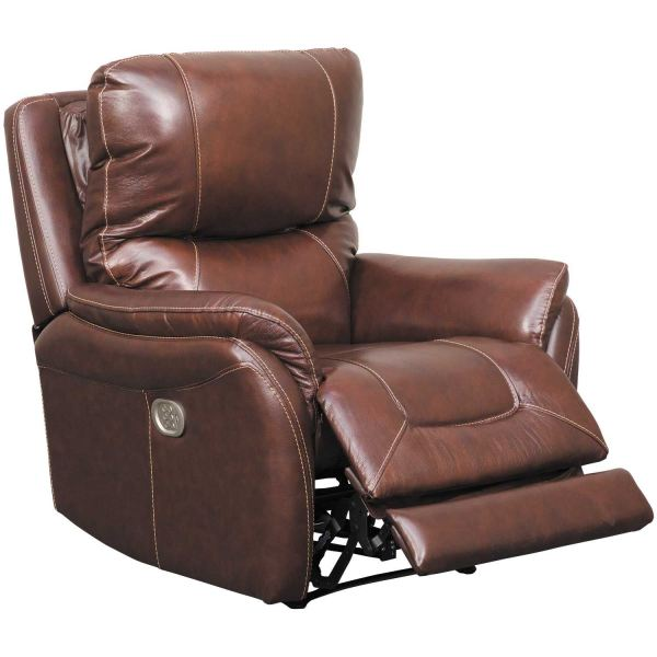 Stolpen Walnut Leather Power Recliner 5650313 Ashley