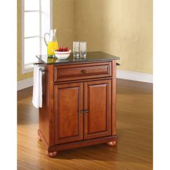Crosley Kitchen Cart Tommy Bahama Table Alexandria Black Granite Top Cherry Afw Picture Of