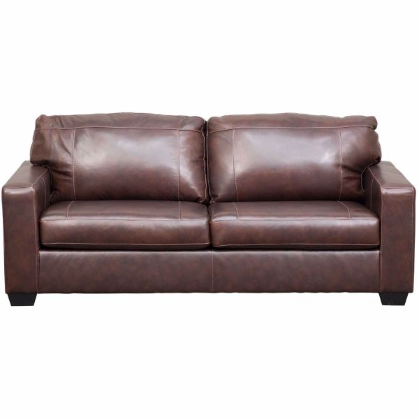 Morelos Brown Italian Leather Sofa | 3450238 | Ashley ...