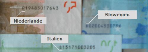 """Bei diesen Euroscheinen handelt es sich um keine """"deutschen"""""""