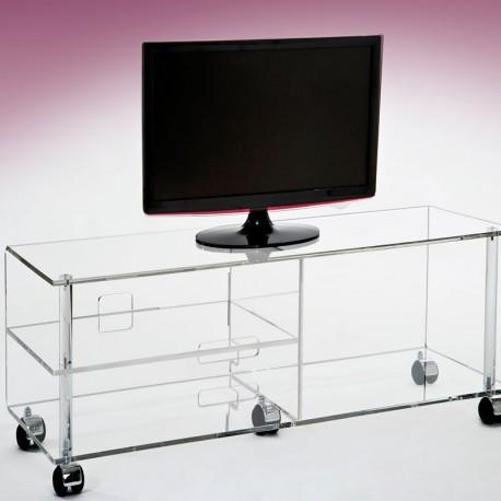 meuble tv plasma jonc incolore