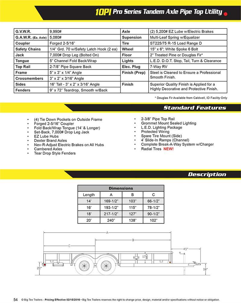 hight resolution of  big tex 10pi x brochure