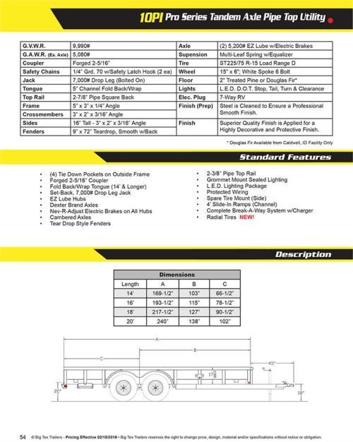 small resolution of  big tex 10pi x brochure