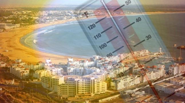 درجات الحرارة المرتقبة غدا الخميس بأكادير وباقي مدن المملكة