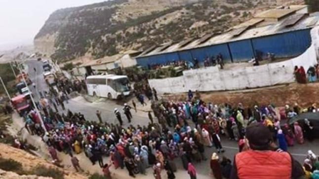 بلاغ سلطات أكادير حول حادث انقلاب حافلة لنقل العاملات بتدارت.. حصيلة رسمية