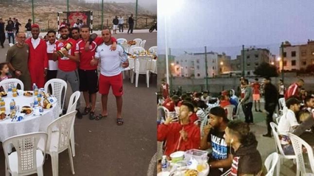جماهير حسنية أكادير تستضيف جمهور المغرب التطواني في مائدة إفطار جماعي (فيديو)