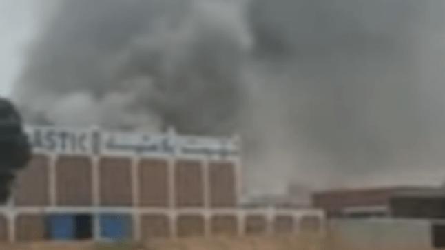 حريق مهول يلتهم معملا للبلاستيك بتيزنيت (فيديو)
