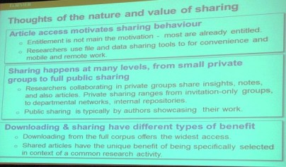 Nature and Value of Sharing