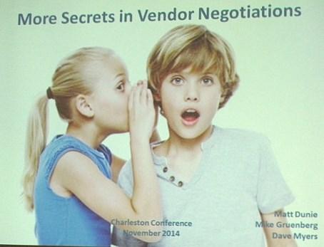 More Secrets in Vendor Negotiations