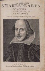 Shakespeare's First Folio via Wikimedia Commons
