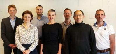 From left to right: Alistair Freeland, Delia Costache, Dietrich Rordorf, Maria Schalnich, Martyn Rittman, Shu-Kun Lin, Franck Vazquez