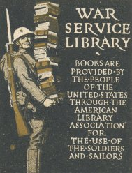 A War Service Library bookplate. Courtesy of the University of Illinois Archives