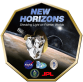 """New Horizons - Logo2 big"" by NASA/JPL/APL/SwRI via Wikimedia Commons"