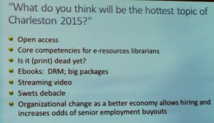 Last Year's Forecast of Hot Topics