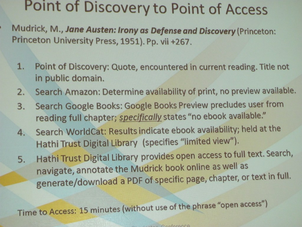 Points of Discovery and Access