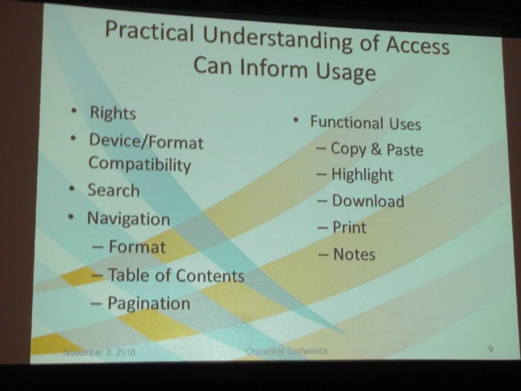 Informing Usage