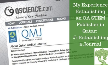 ATG Original: My Experience Establishing an OA STEM Publisher in Qatar – #1 Establishing a Journal