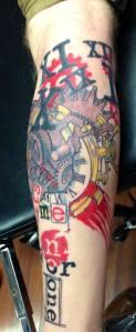 time_gear_trash_polka_tattoo