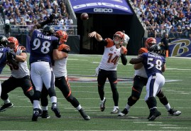 Andy Dalton has plenty of weapons around him entering 2018 in the AFC North. Flickr/http://bit.ly/1ObCfQD/Keith Allison